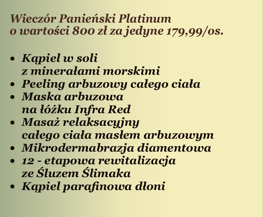 Wieczór panieński platinium - oferta Białystok